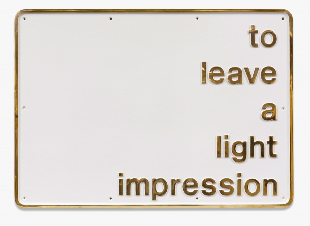 Darren Almond, To Leave a Light Impression, 2011, Bronzeguss und Farbe , 61.4 x 86 x 1.5 cm.; 24 1/8 x 33 7/8 x 5/8 in.